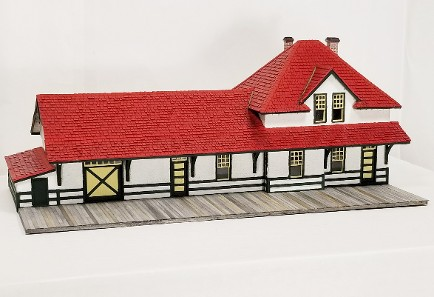 CNR 3rd class station HO-scale